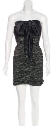 Nicole Miller Strapless Ruched Dress w/ Tags