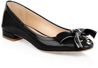 Coach Lia Velvet Bow Patent Leather Flats