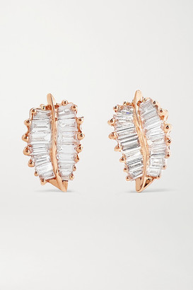 Anita Ko Palm Leaf Small 18-karat Rose Gold Diamond Earrings