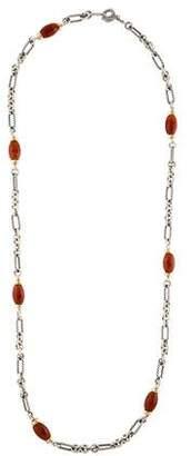 David Yurman Carnelian Figaro Chain Necklace