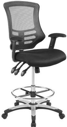 Symple Stuff La Mott Ergonomic Mesh Drafting Chair Color : Black
