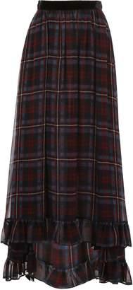 Philosophy di Lorenzo Serafini Long Tartan Skirt