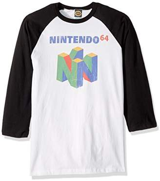 Nintendo Unisex-Adults Men's N64 Logo Short Sleeve T-Shirt