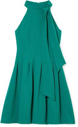 Vince Camuto Bow-neck Pleated Dress