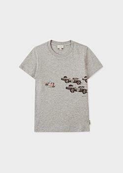 Paul Smith Boys' 2-6 Years Grey 'Mini Stripe' Print T-Shirt