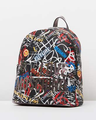 Love Moschino Graffiti Backpack