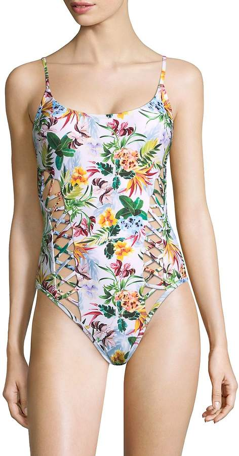 Red Carter Swim Women's One-Piece Floral-Print Swimsuit