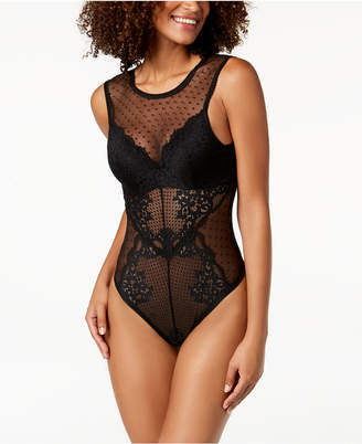 INC International Concepts I.n.c. Floral Mesh & Lace Bodysuit, Created for Macy's