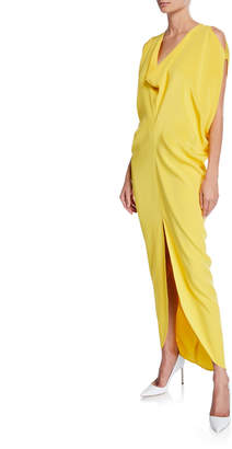 Zero Maria Cornejo Venus Sleeveless Silk Crepe Long Dress