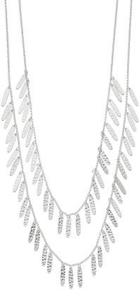 Silver Tone Casting Chain Layered Multi Strand Necklace