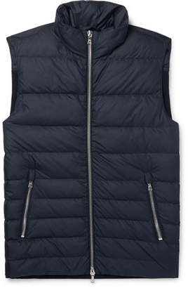 Officine Generale Slim-Fit Shell And Ribbed Wool-Blend Down Vest