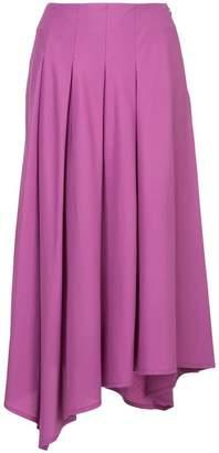 Aula pleated asymmetric skirt