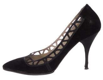 Valentino Suede Pointed-Toe Pumps