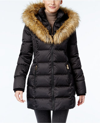 INC International Concepts Faux-Fur-Trim Puffer Coat, Only at Macy's $245 thestylecure.com