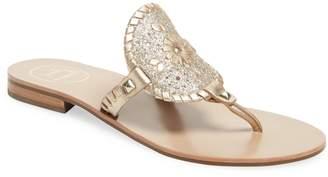 Jack Rogers Women's Georgica Sparkle Low Heel Sandal