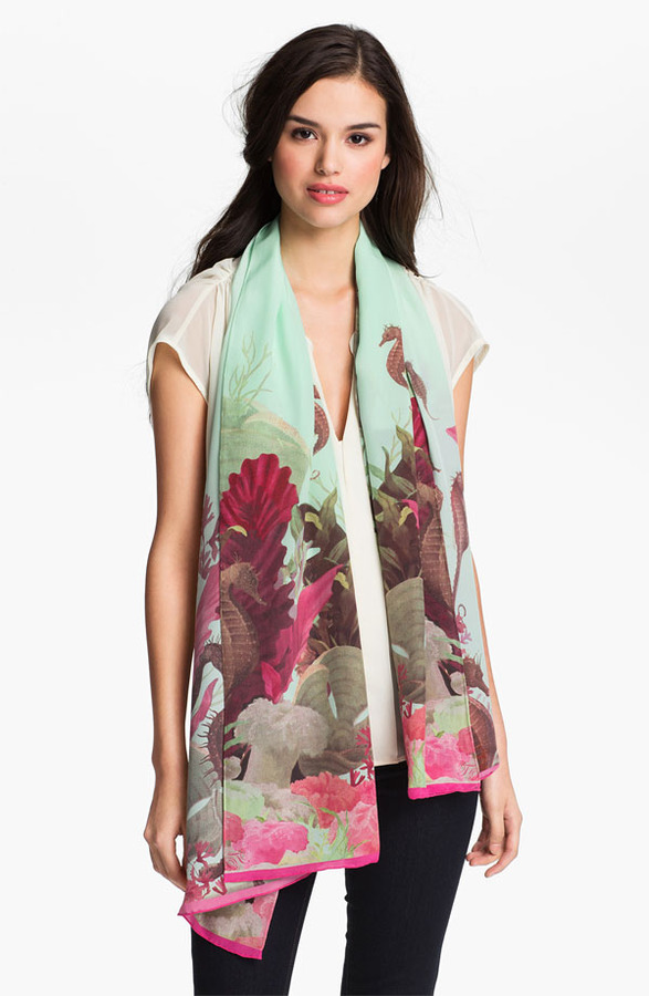 Ted Baker 'Under the Sea' Silk Scarf