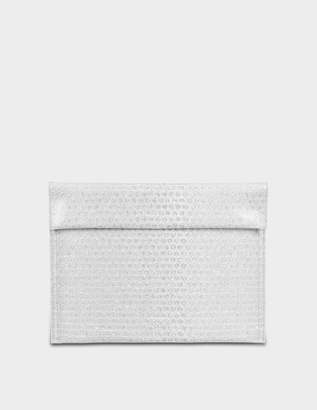 MM6 MAISON MARGIELA Pouch Bag in Silver Synthetic Leather