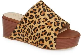 Coconuts by Matisse Freya Platform Genuine Calf Hair Slide Sandal