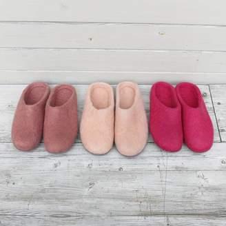 Aura Que Sale Fair Trade Handmade Eco Felt Mule Slippers