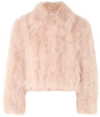 ADEAM - Cropped Feather Jacket - Blush
