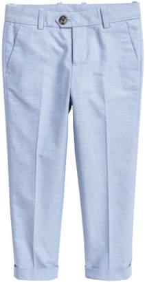 H&M Cotton Suit Pants - Blue