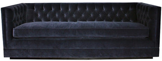 Kim Salmela Draper Tuxedo Sofa - Navy Velvet