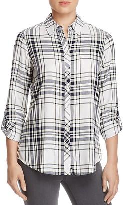 Foxcroft Addison Plaid Button-Down Shirt $79 thestylecure.com