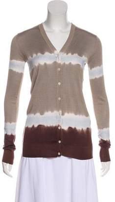 Dolce & Gabbana Silk Tie Dye Cardigan