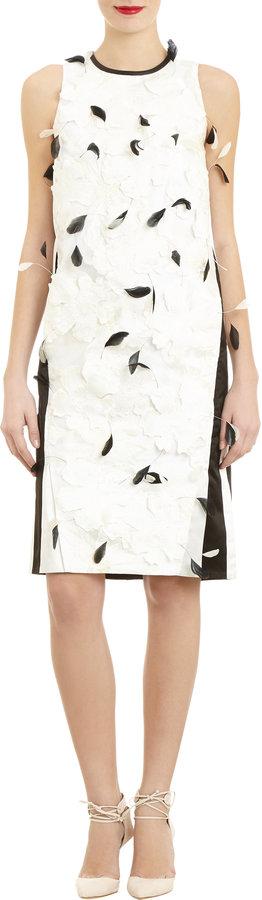 Erdem Feathers & Flowers Shift Dress