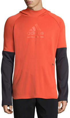 adidas Long Sleeve Fleece Abstract Hoodie