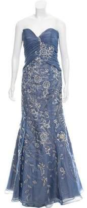 Jovani Embellished Pleated Dress