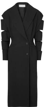 Christopher Kane Cutout Crepe Coat - Black