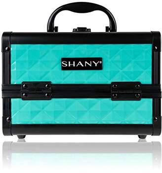 SHANY Mini Makeup Train Case Cosmetics Organizer with Mirror