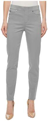 Liverpool Chloe Ankle Pull-On Leggings in Stretch Peached Satin in Sharkskin Women's Casual Pants