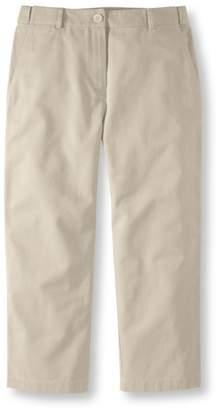L.L. Bean L.L.Bean Wrinkle-Free Bayside Twill Pants, Cropped Classic Fit Hidden Comfort Waist