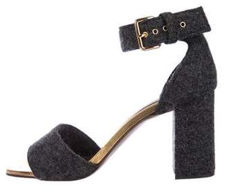 Marni Woven Ankle Strap Sandals