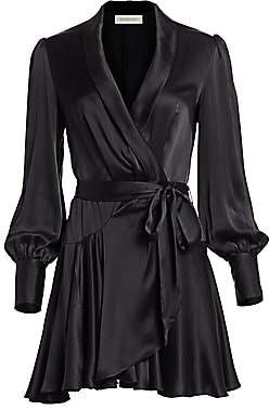 Zimmermann Women's Espionage Silk Mini Wrap Dress