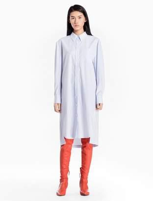 Calvin Klein striped cotton woven shirt dress
