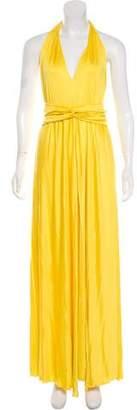 Blumarine Silk Halter Gown w/ Tags