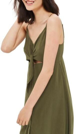 Women's Topshop Knot Front Slipdress 5
