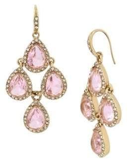 Miriam Haskell Basic Ears Crystal Chandelier Earrings