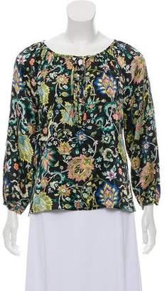 Nieves Lavi Printed Silk Blouse