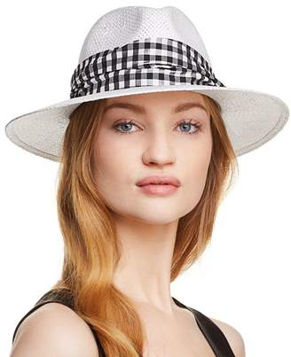 Helene Berman Gingham-Trim Fedora