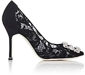 Manolo Blahnik Women's Hangisila Lace Pumps - Black Lace