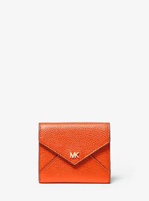 Michael Kors Medium Pebbled Leather Envelope Wallet