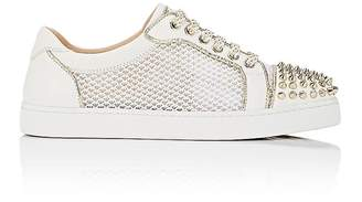 Christian Louboutin Women's AC Viera Spikes Flat Leather & Mesh Sneakers