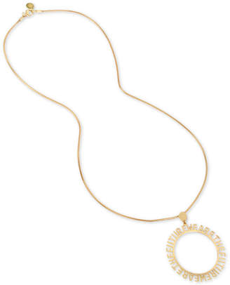 "BCBGMAXAZRIA (ビーシービージーマックスアズリア) - BCBGeneration Affirmation Disc 30"" Pendant Necklace"