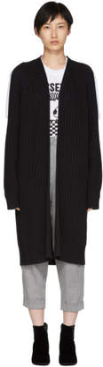 McQ Black Cut-Out Cardigan