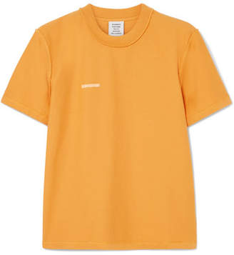 Vetements Embroidered Cotton-jersey T-shirt - Yellow