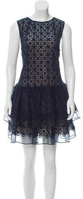 RED Valentino Sleeveless Embroidered Dress w/ Tags